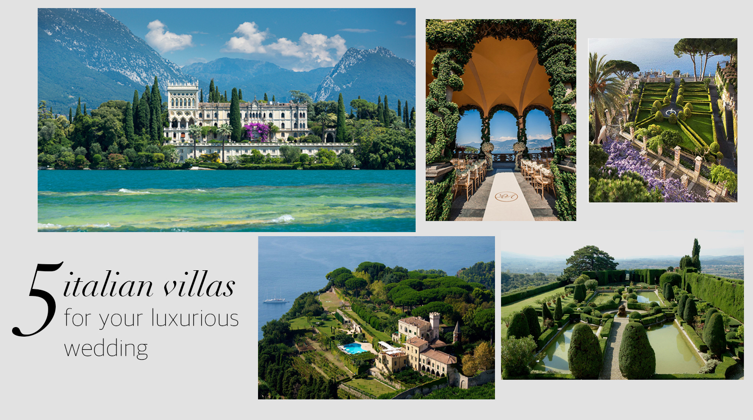 Top-5 Italian villas for your wedding